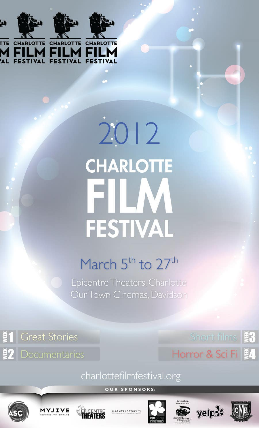 Proposition n°98 du concours Design materials for the Charlotte International Film Festival