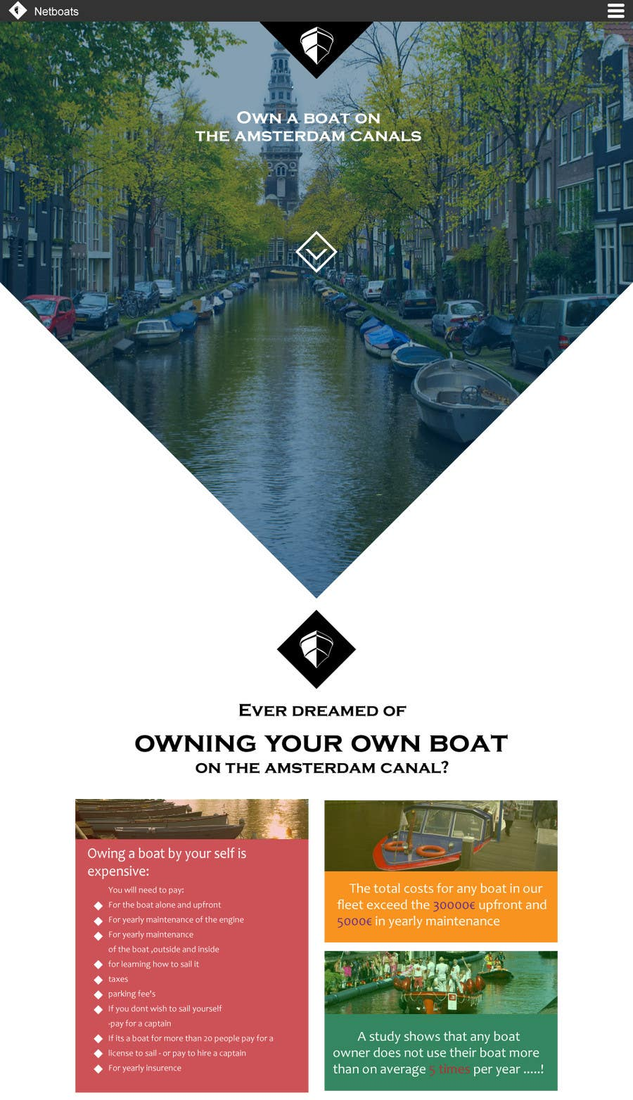 Kilpailutyö #                                        4                                      kilpailussa                                         Design a Website Mockup for netboats.org