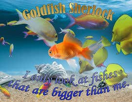 #23 for Poster design: I only look at fishes that are bigger than me by oroba