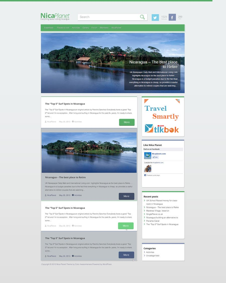 Kilpailutyö #                                        11                                      kilpailussa                                         Design a Website Mockup for Nicaplanet.com