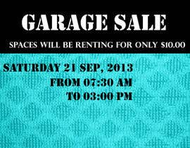 "#9 untuk Design an Advertisement for Anson Jones ES ""Garage Sale"" oleh amiraelsayed"
