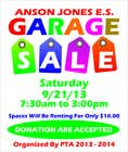"Contest Entry #13 for Design an Advertisement for Anson Jones ES ""Garage Sale"""