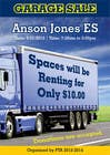 "Contest Entry #4 for Design an Advertisement for Anson Jones ES ""Garage Sale"""