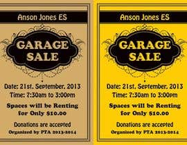 "linokvarghese tarafından Design an Advertisement for Anson Jones ES ""Garage Sale"" için no 12"