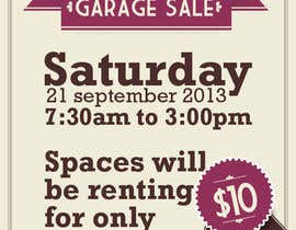 "#17 untuk Design an Advertisement for Anson Jones ES ""Garage Sale"" oleh IAlfonso"