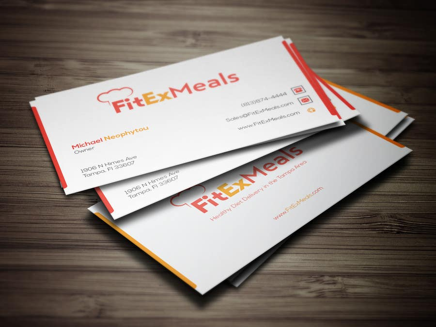 Contest Entry #103 for Design a Business Card for FitEx Meals