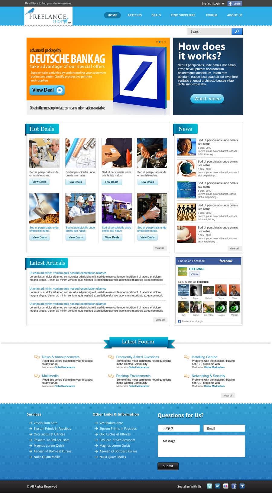 Contest Entry #56 for Website Design for freelance shop