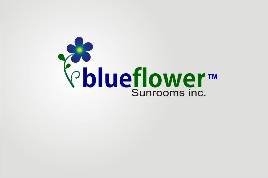 #286 for Logo Design for Blueflower TM Sunrooms Inc.  Windscreen/Sunrooms screen reduces 80% wind on deck by asifjano