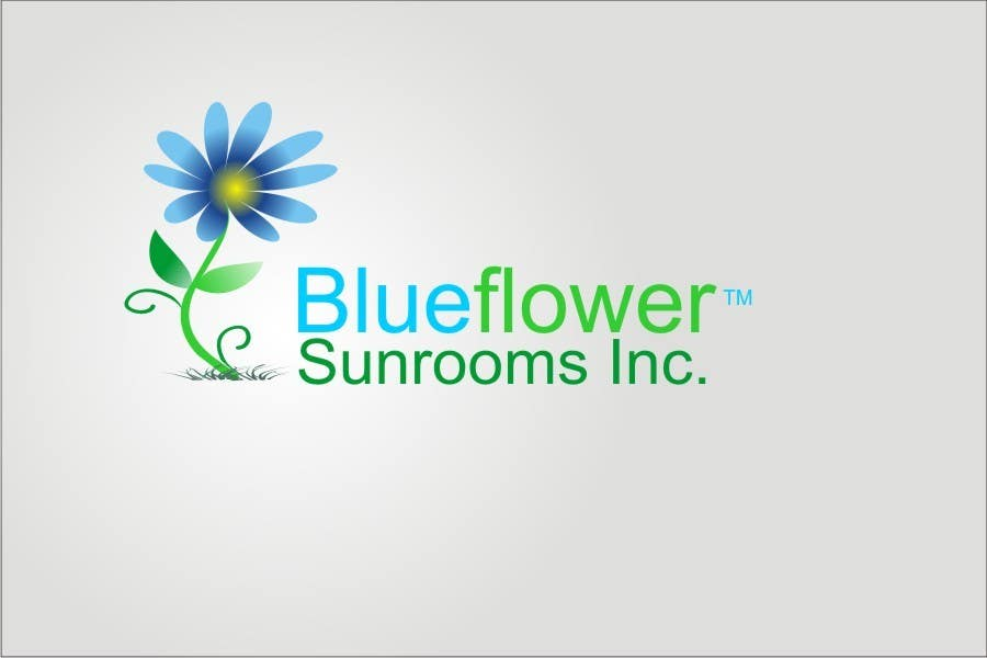 #381 for Logo Design for Blueflower TM Sunrooms Inc.  Windscreen/Sunrooms screen reduces 80% wind on deck by asifjano