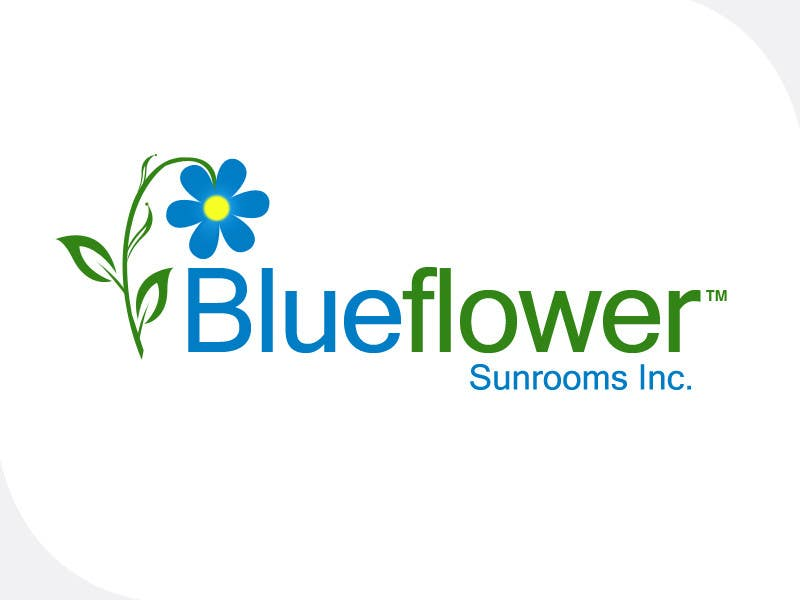 #443 for Logo Design for Blueflower TM Sunrooms Inc.  Windscreen/Sunrooms screen reduces 80% wind on deck by e2developer
