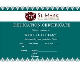 #18 For Baby Dedication Certificate By Karankar