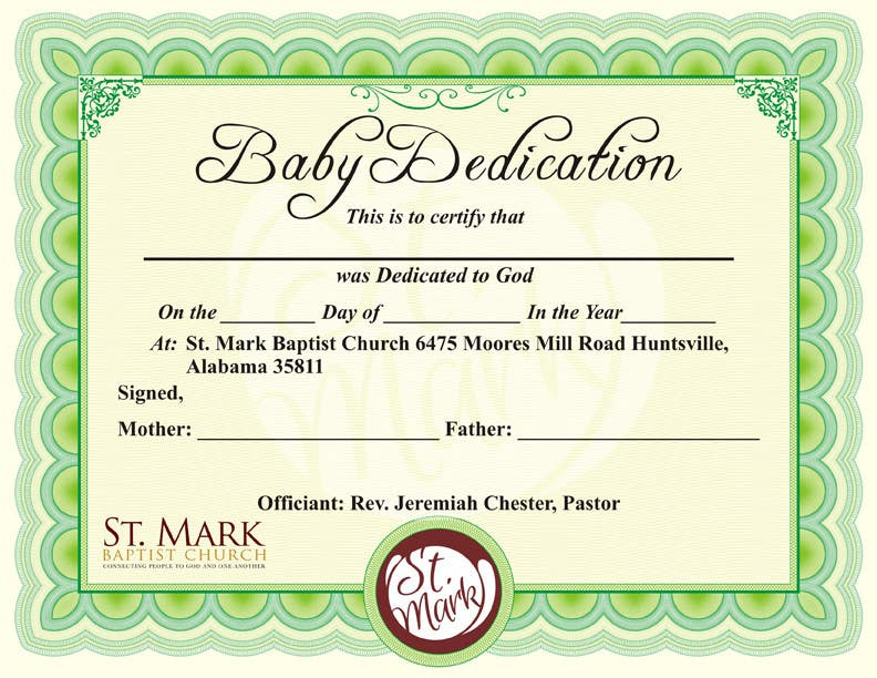 Entry  By Andraakkir For Baby Dedication Certificate  Freelancer