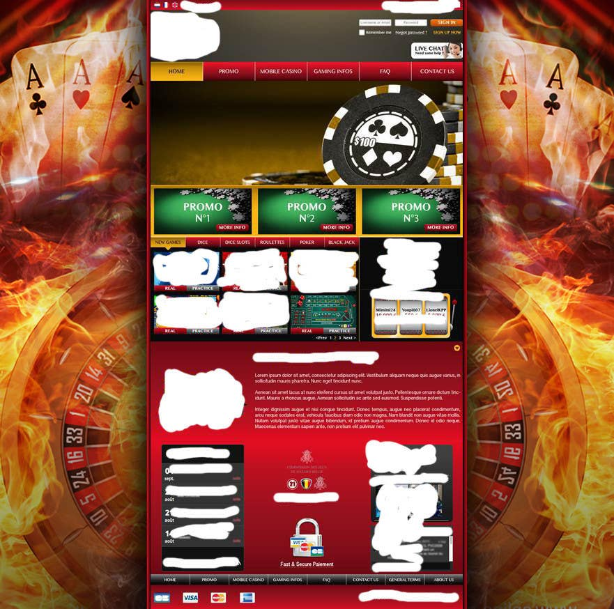 Contest Entry #16 for Background for casino website