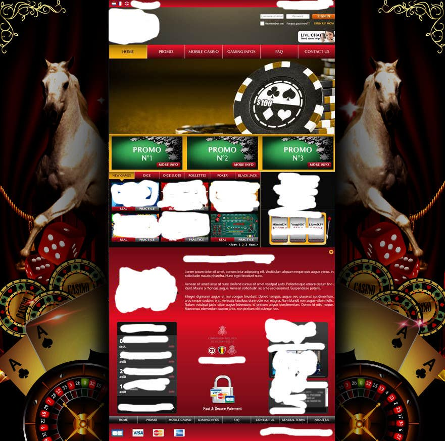 Contest Entry #27 for Background for casino website