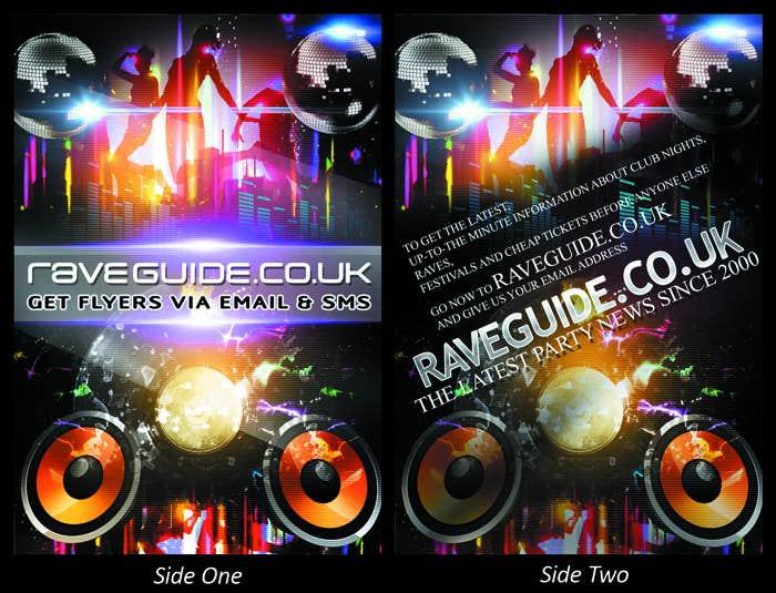 Penyertaan Peraduan #4 untuk Need a talented artist to design a flyer for a rave / clubbing website