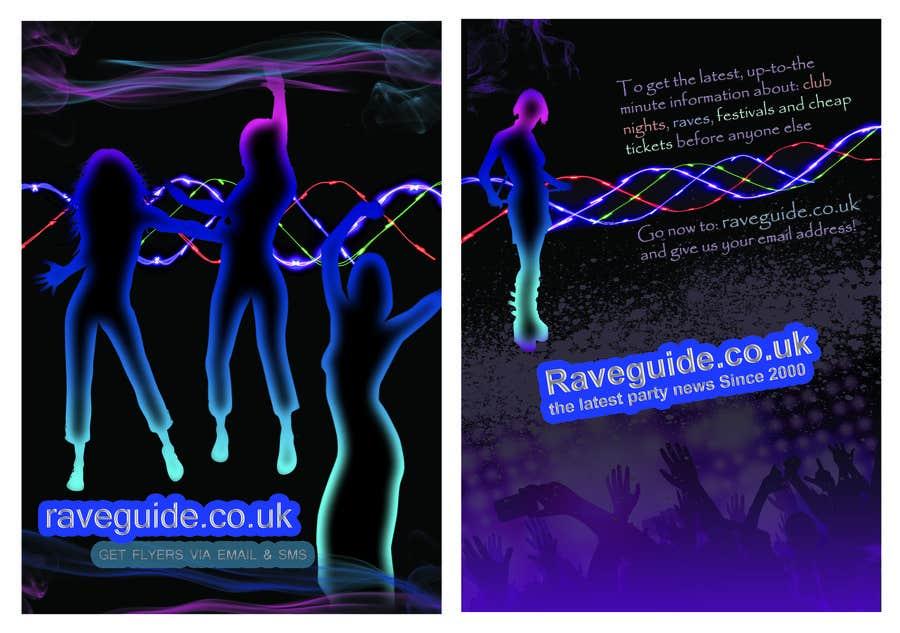 Penyertaan Peraduan #7 untuk Need a talented artist to design a flyer for a rave / clubbing website
