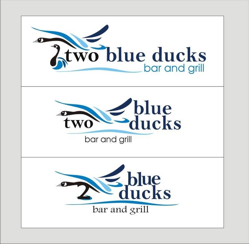 Kilpailutyö #20 kilpailussa Design a Logo for two blue ducks bar and grill