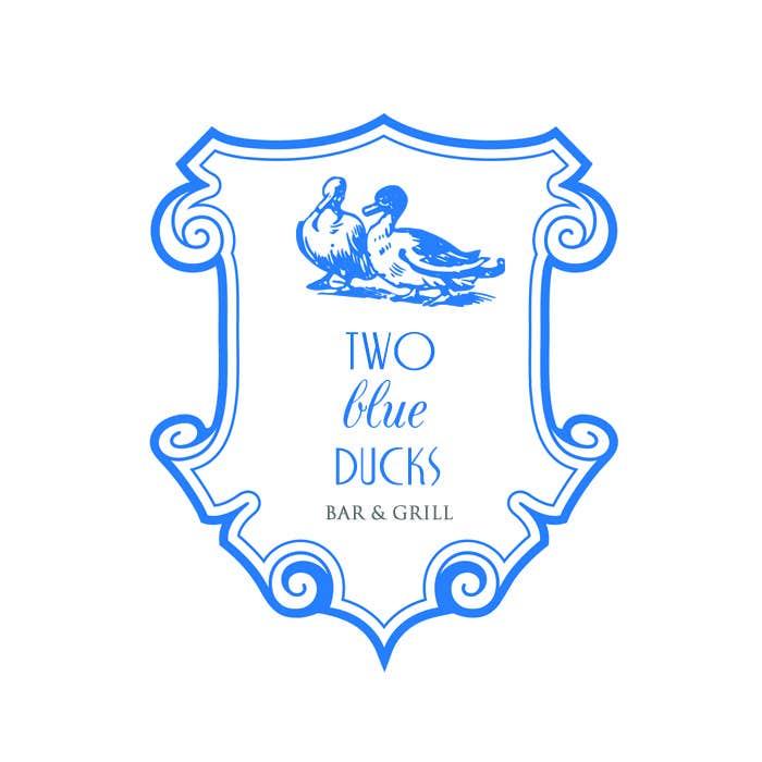 Kilpailutyö #25 kilpailussa Design a Logo for two blue ducks bar and grill