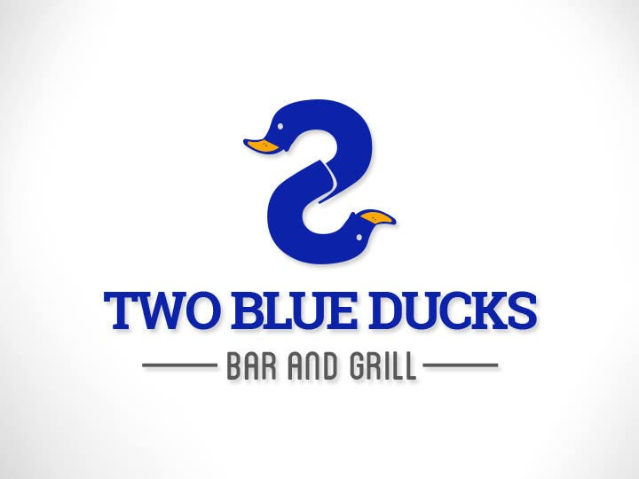Kilpailutyö #11 kilpailussa Design a Logo for two blue ducks bar and grill