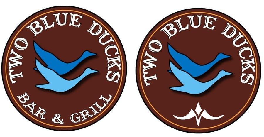 Kilpailutyö #21 kilpailussa Design a Logo for two blue ducks bar and grill