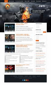 #8 for Design a Homepage Mockup for video game website af kreativeminds