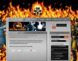 #2 for Design a Homepage Mockup for video game website af KyleMcconaughey