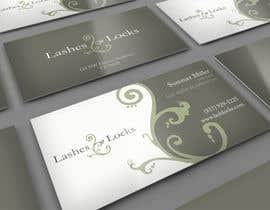 #8 for Design some Business Cards for eyelash / hair extensions by midget