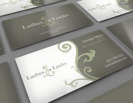 #9 untuk Design some Business Cards for eyelash / hair extensions oleh midget