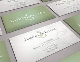 #18 untuk Design some Business Cards for eyelash / hair extensions oleh sashadesigns