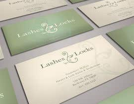 #19 untuk Design some Business Cards for eyelash / hair extensions oleh sashadesigns