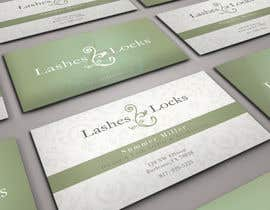 #25 para Design some Business Cards for eyelash / hair extensions por sashadesigns