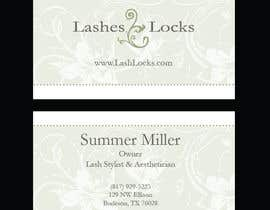 #31 para Design some Business Cards for eyelash / hair extensions por francescooliva