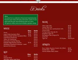 nº 5 pour Design a drinks menu for an Indian restaurant par JLUK