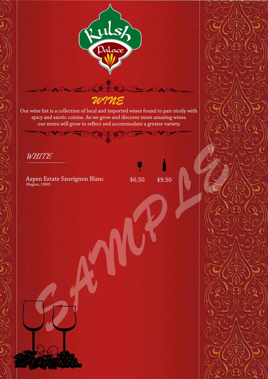 #3 for Design a drinks menu for an Indian restaurant by lingsharma