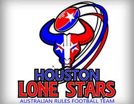 #94 untuk Logo Design for Houston Lonestars Australian Rules Football team oleh bigrich74