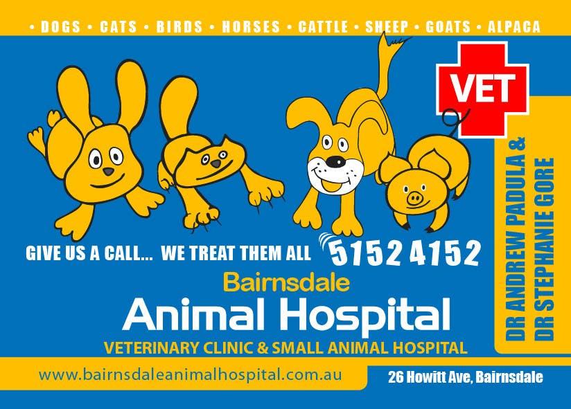 Inscrição nº 31 do Concurso para Graphic Design for Bairnsdale Animal Hospital