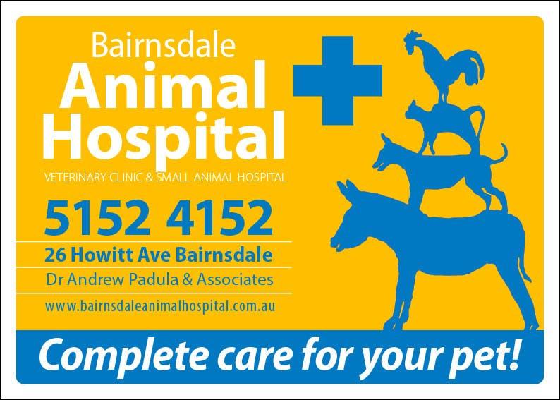 Inscrição nº 28 do Concurso para Graphic Design for Bairnsdale Animal Hospital