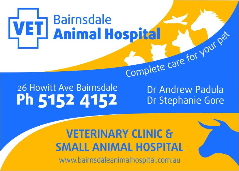Inscrição nº 40 do Concurso para Graphic Design for Bairnsdale Animal Hospital