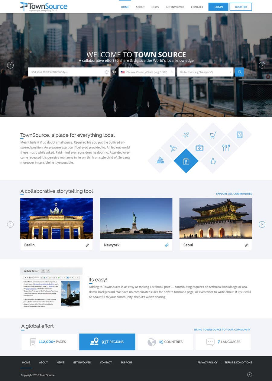Revamp website design asap freelancer for Del website