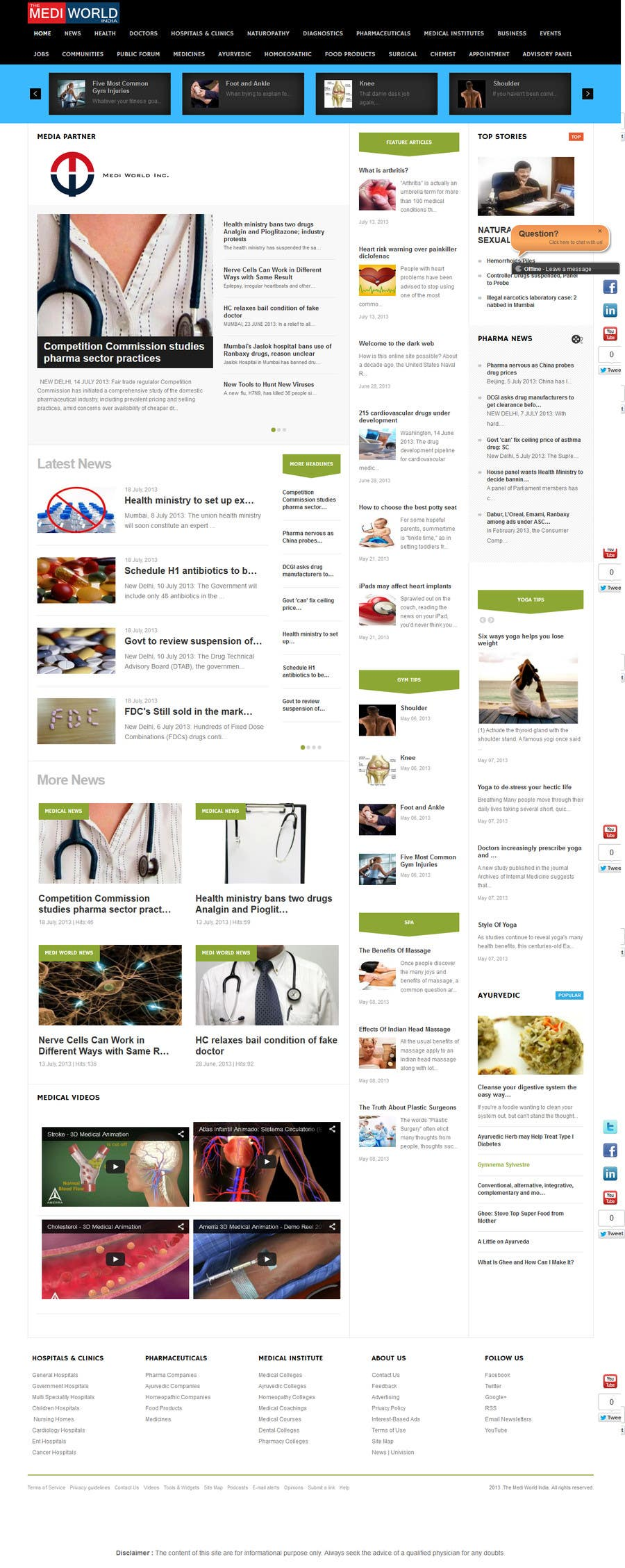 Kilpailutyö #1 kilpailussa Redesign Joomla Landing Page
