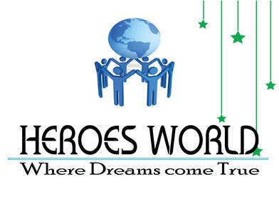 #68 para Design a Logo for HEROES WORLD por gpatel93
