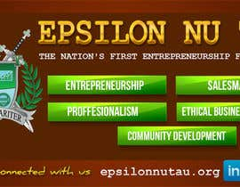 nº 11 pour Design a Epsilon Nu Tau Fraternity Table Banner par nurmania