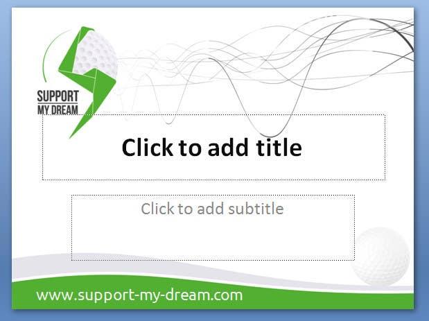 Inscrição nº                                         12                                      do Concurso para                                         SMD - Layout for ppt-presentation of Dream/Golf Website