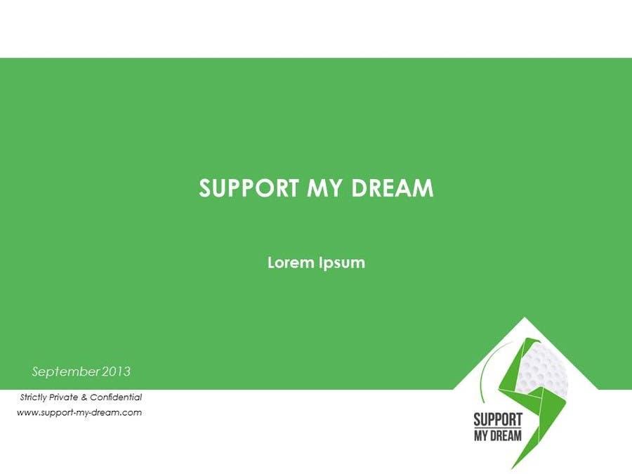 Inscrição nº                                         7                                      do Concurso para                                         SMD - Layout for ppt-presentation of Dream/Golf Website