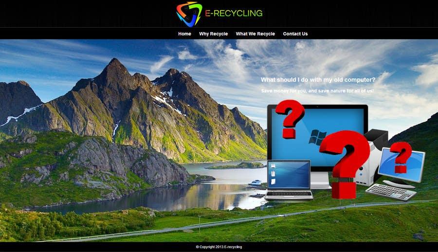 Inscrição nº 1 do Concurso para E recycling company website