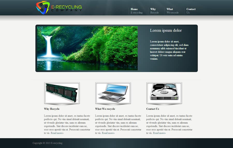 #3 for E recycling company website by cosminici27