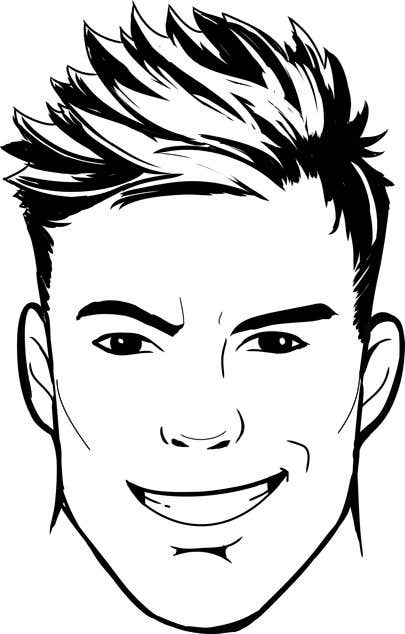 Simple Line Drawing Of A Face : Simple face drawing sample provided freelancer