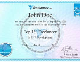 #40 cho Design Freelancer.com's new Achievement Certificate bởi dreamstudios0