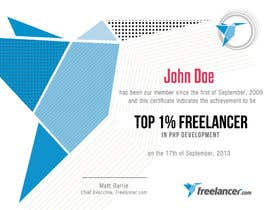 #24 cho Design Freelancer.com's new Achievement Certificate bởi NatzMendoza