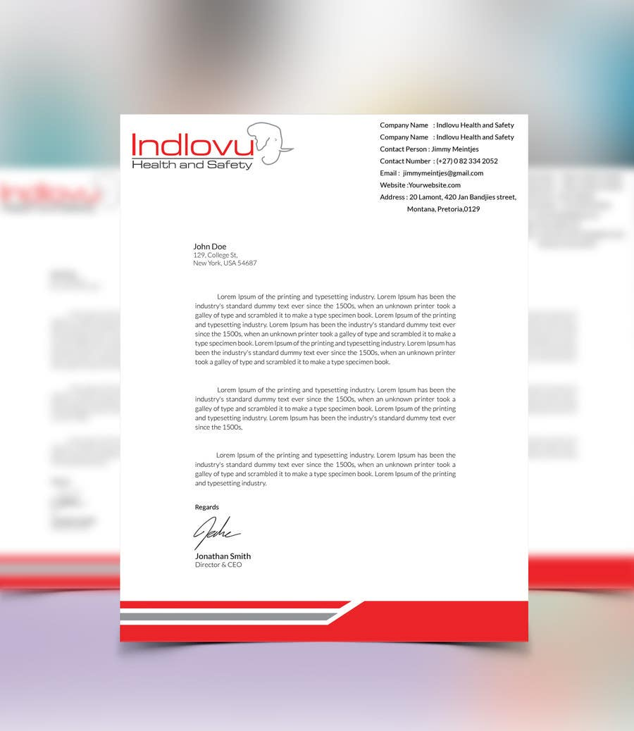 Entry #5 by kushum7070 for Design a letterhead and business cards ...